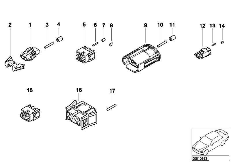 Rundsteckhülse 2.5 ELA mit Kabel 0,75-1,0 MM² 1er 3er 5er
