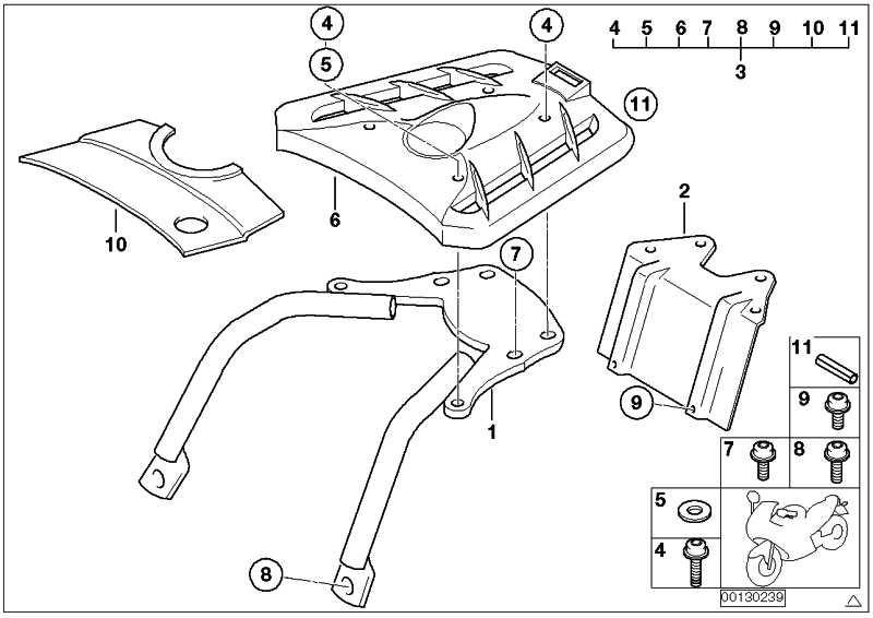 Anbauteile Top Case Halter F650GS/GS-DAKAR (71607682341