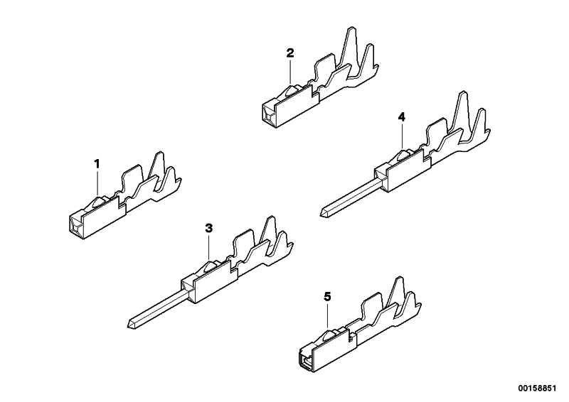 Stiftkontakt MQS ELA 0.2-0.5MM² /SN 1er 3er 5er 6er 7er X1
