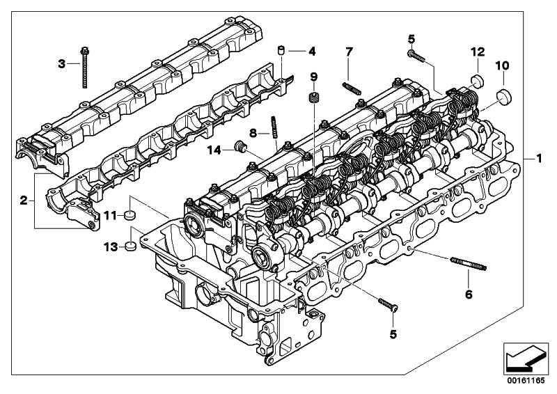 Zylinderkopf mit Ventiltrieb 3er 5er X3 Z4 (11127591618