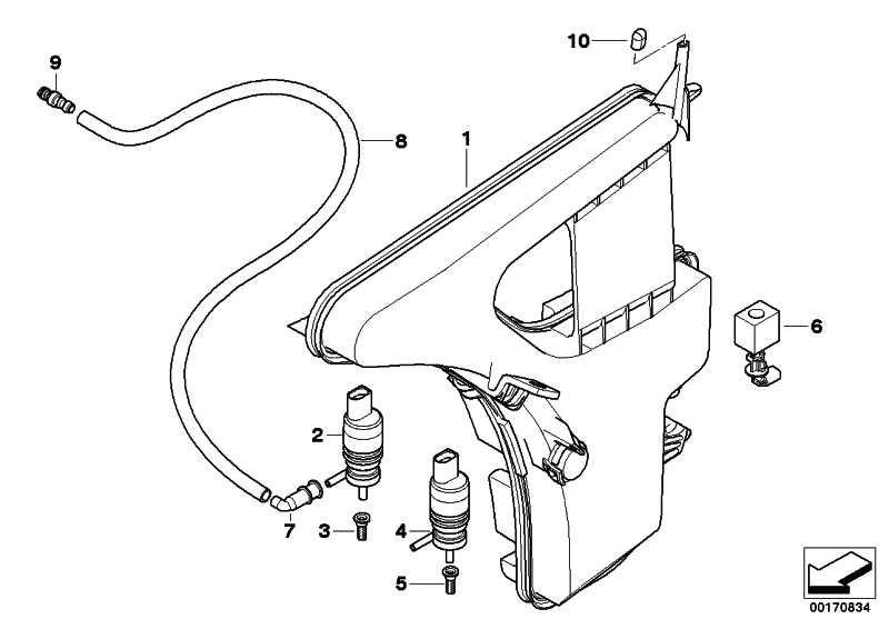 Behälter Scheinwerferwaschanlage 3er (61668041172