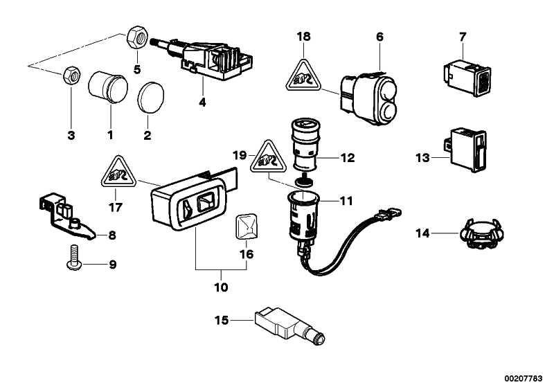 Schalter Leuchtweitenregulierung Z3 (61318363640