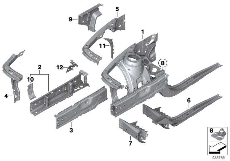 Stützträger o. Fgst.-Nr. Radhaus v. r. 1er 2er 3er 4er