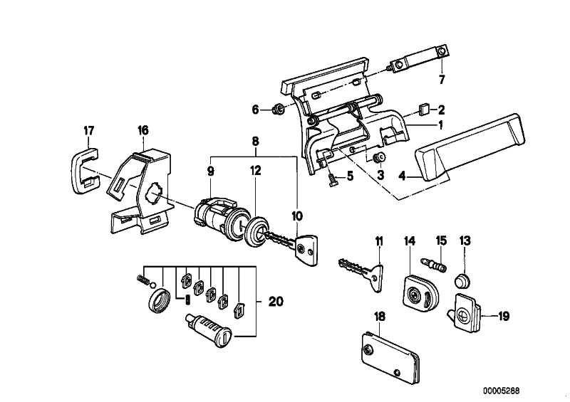 Reparatursatz Schliesszylinder 3er (51219556313