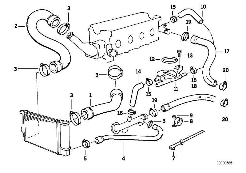 Schlauch Heizkörper-Motorrücklauf 3er (64211387010