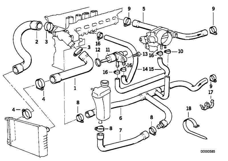 Schlauch Motorvorlauf-Wasserventil 3er (64211394293
