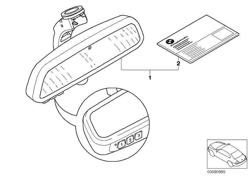 Innenspiegel EC / LED / GTO / Kompass 3er 5er 6er X1 X3 X5