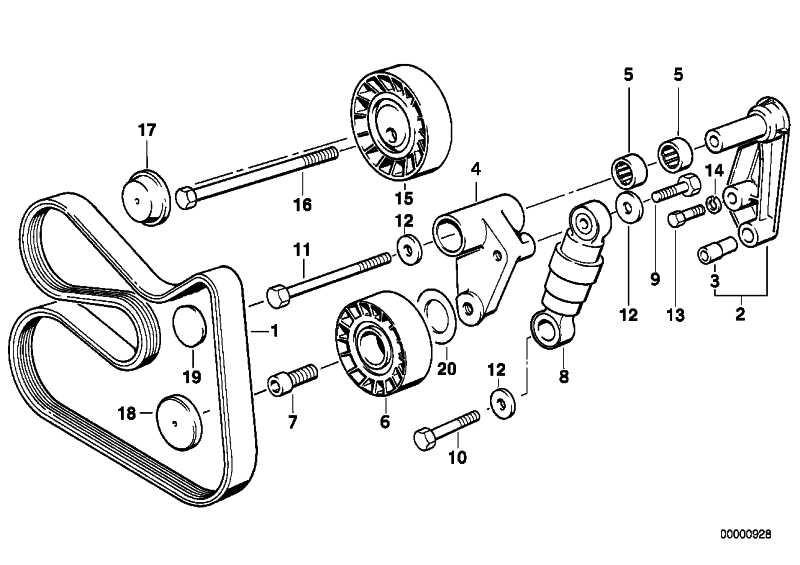 Riemenspanner hydraulisch 3er 5er 7er X3 X5 Z3 Z4