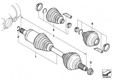 Reparatursatz Faltenbalg innen 3er 5er 6er 7er X1