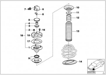 Federteller oben mit Axialkäfiglager 3er 5er 6er 7er X5 Z4
