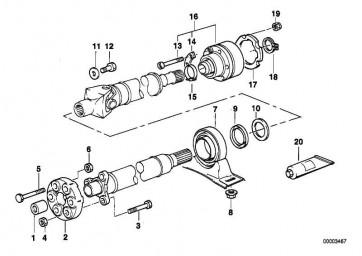 Sechskantschraube M12X1,5X71-ZNS3 1er 3er 5er 6er 7er X1
