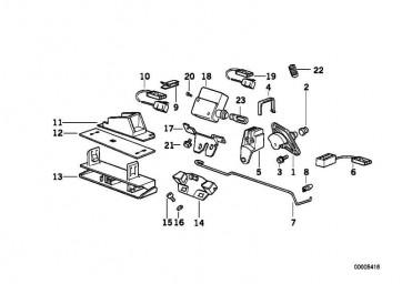 Microschalter Heckklappenverschluss 5er (61318355129
