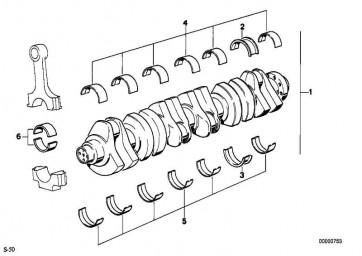 Lagerschale 48,50MM(+0,50) 3er Z3 (11241404010