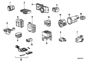 Steckergehäuse 3 POL. 3er 5er 7er Z3 (61131378410