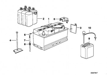 Original BMW Batterie gefüllt 90AH 1er 3er 5er 7er X3 X5