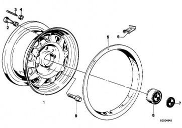 BMW Plakette mit Klebefolie D=64,5MM 3er 5er 6er 7er 8er