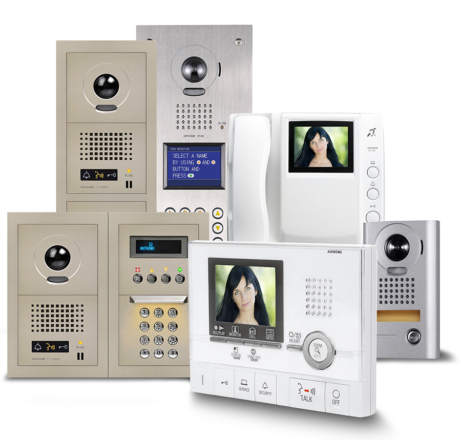 aiphone intercom wiring diagram mppt charge controller schematic gt color video entry system for multi tenant apartment buildings