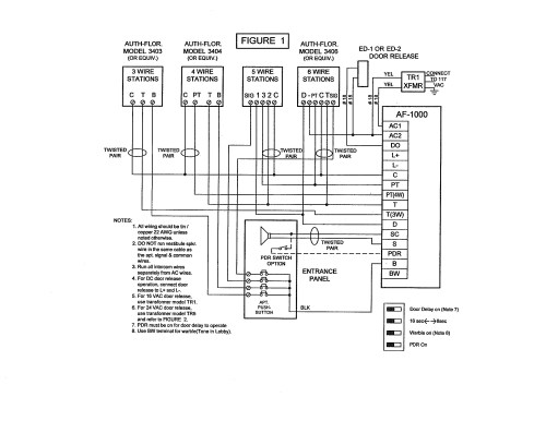 small resolution of pacific electronics 3404 4 wire plastic intercom station 4 wire dryer wiring diagram 4 wire intercom wiring diagram