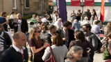 Crowds of medievalists at the 2014 International Medieval Congress, University of Leeds