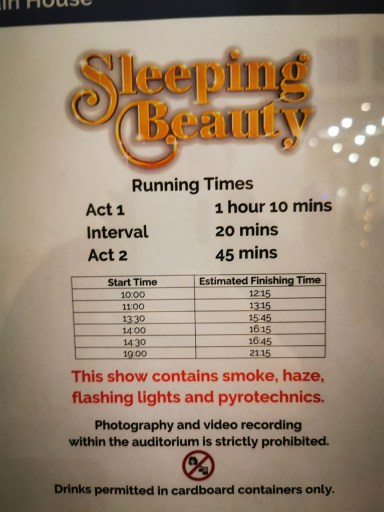 Sleeping Beauty show times