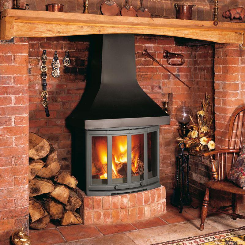 Dovre 2400CB Wood Burning Fireplace Stove  Leeds Stove Centre