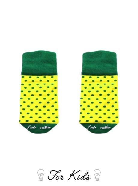 可愛的黃色點點童襪
