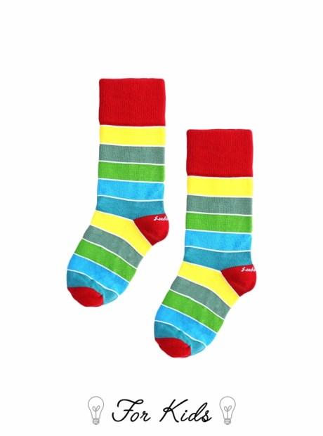 彩色條紋童襪