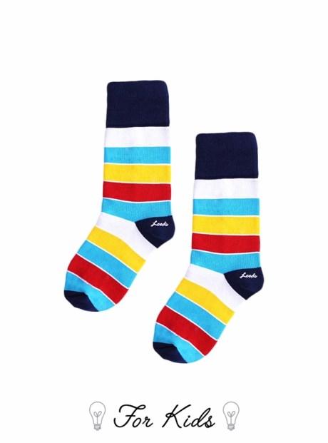 Leeds weather 品牌童襪條紋系列