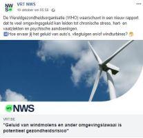 Geluid van windmolens en ander omgevingslawaai is potentieel gezondheidsrisico