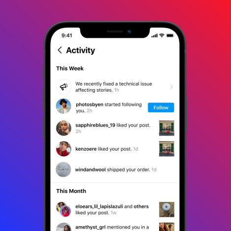 Instagram notify about any technical issues or Outage.