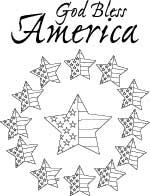 Coloring Fun for Kids and Grownups: God Bless America