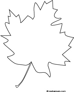 Simple Maple Leaf Coloring Page