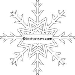Winter Snowflake Coloring Page Stencil