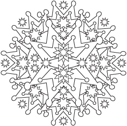 Crown Mandala Coloring Page