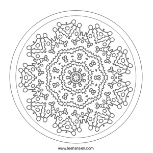 Lace Design Mandala Coloring Page