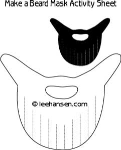 Beard Mask Cut Out Craft Sheet