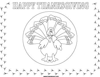 Thanksgiving Coloring Place Mat