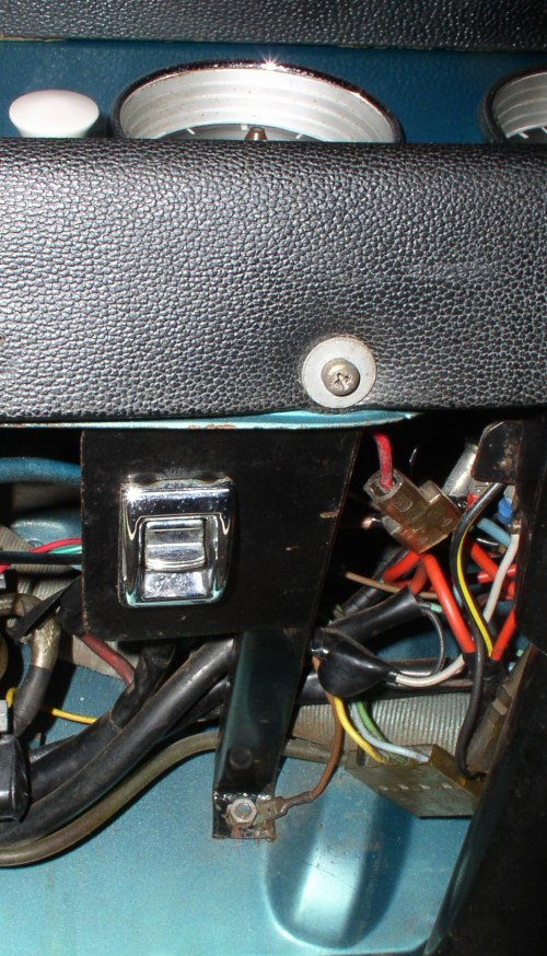 small resolution of  so remove the 10mm nut at the back and the screw at the front going through the lower dash pad on the underside of the switch there are three wires