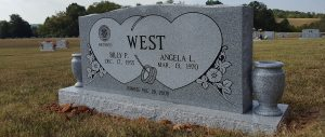 a double memorial for the West family
