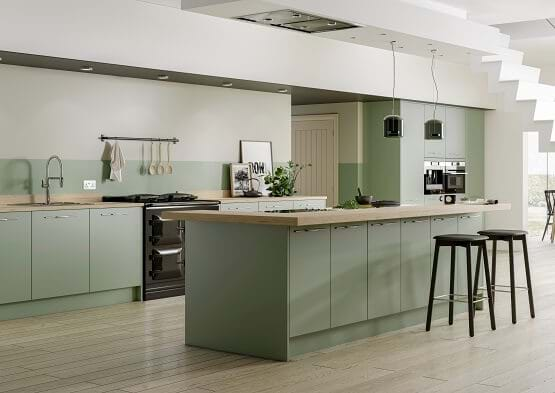 Green Kitchens Leekes Kitchens