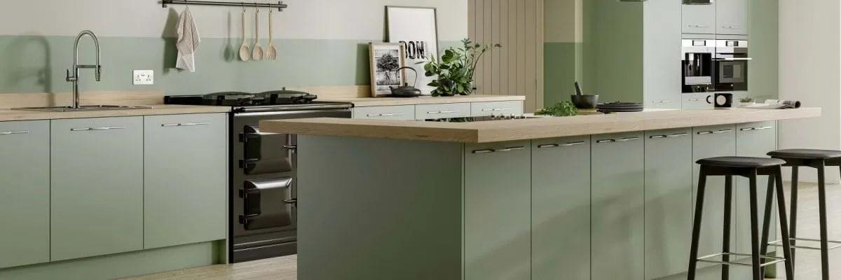 Green Kitchens Leekes Kitchens