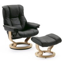 Stressless Mayfair Leather Armchair & Stool Small Leekes