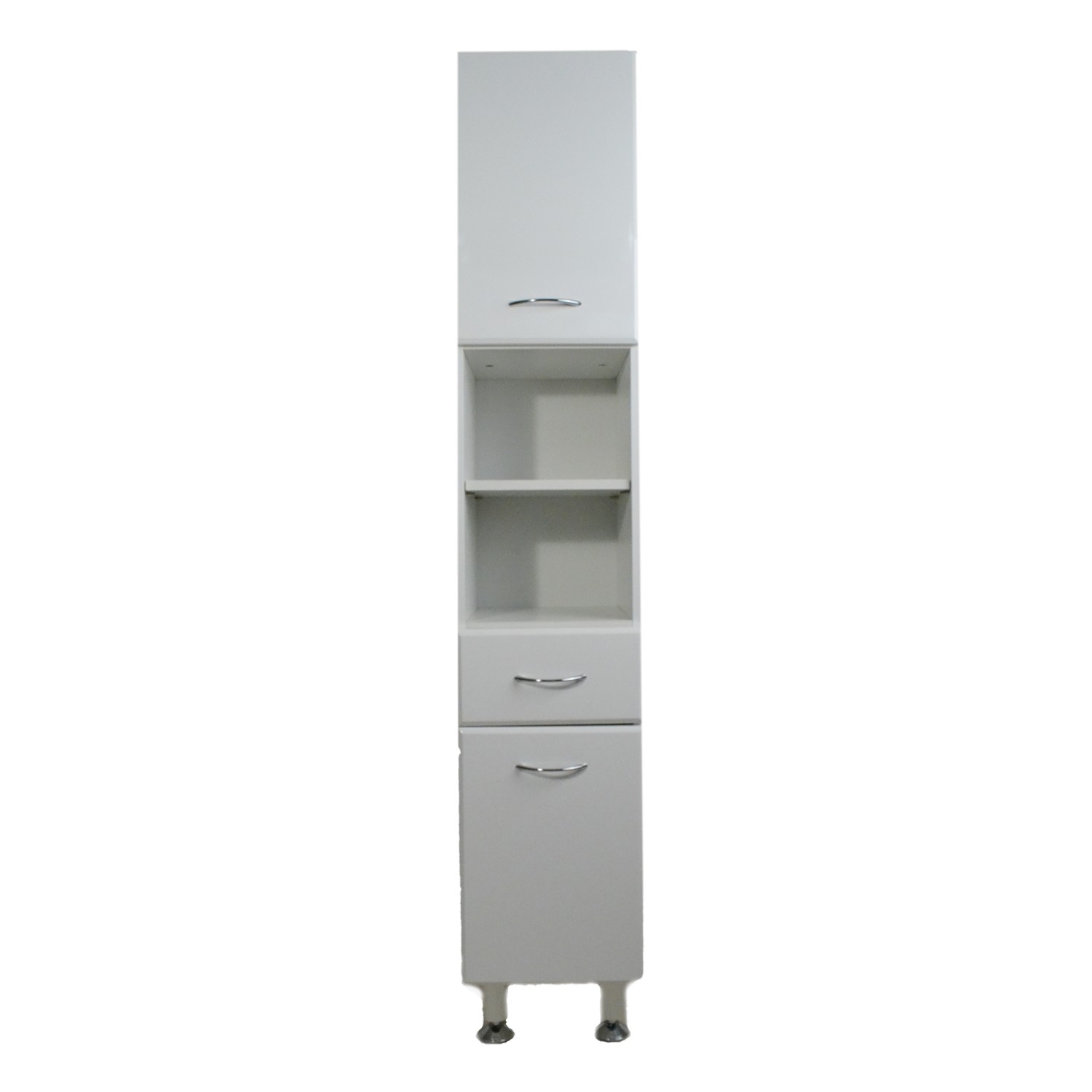 Casa Tall Bathroom Cabinet, White Gloss