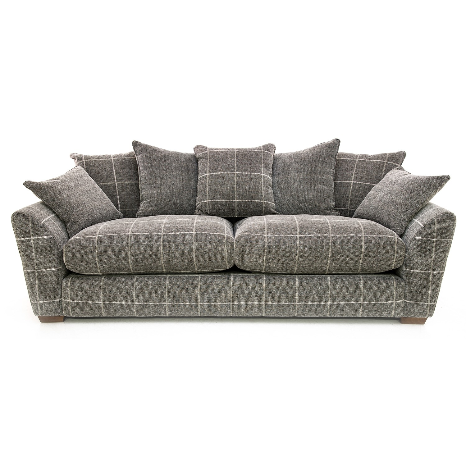 tartan chesterfield sofa distressed leather sleeper checked sofas uk energywarden