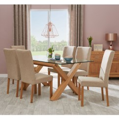 6 Chair Dining Set Amazon Chairs Casa Toledo Glass Table Upholstered Zoom