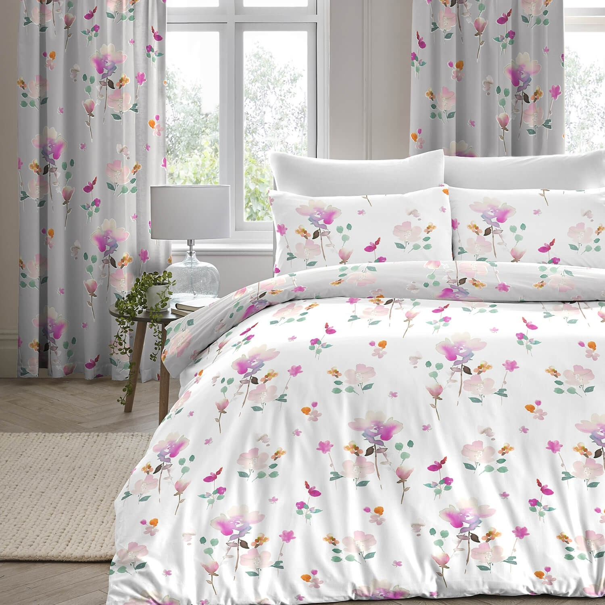dreams drapes jessica duvet set single pink