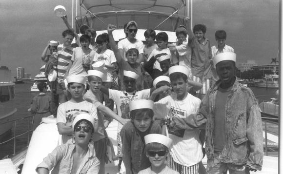 Boychoir on a Boat