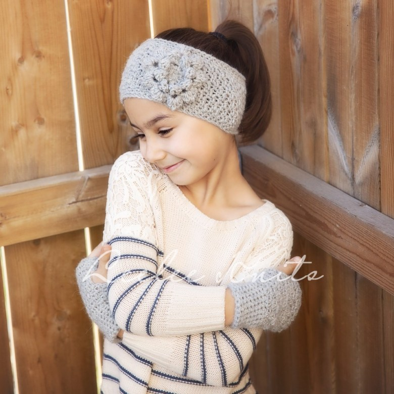 Headband and Hand Warmers Crochet Pattern