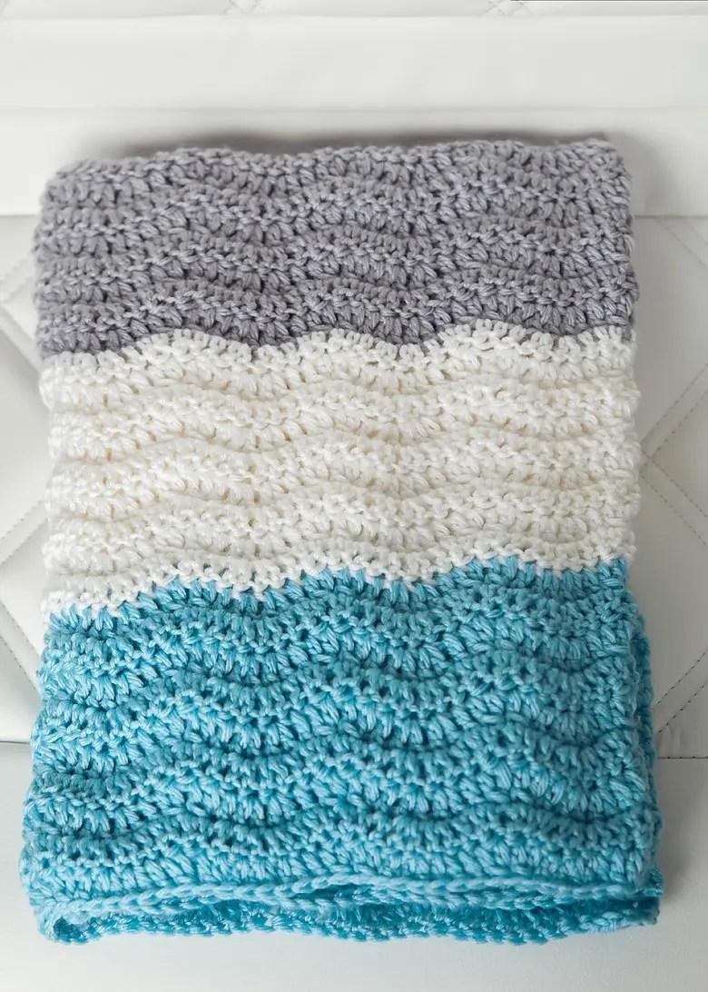 Free Chevron Baby Blanket Crochet Pattern - Leelee ...