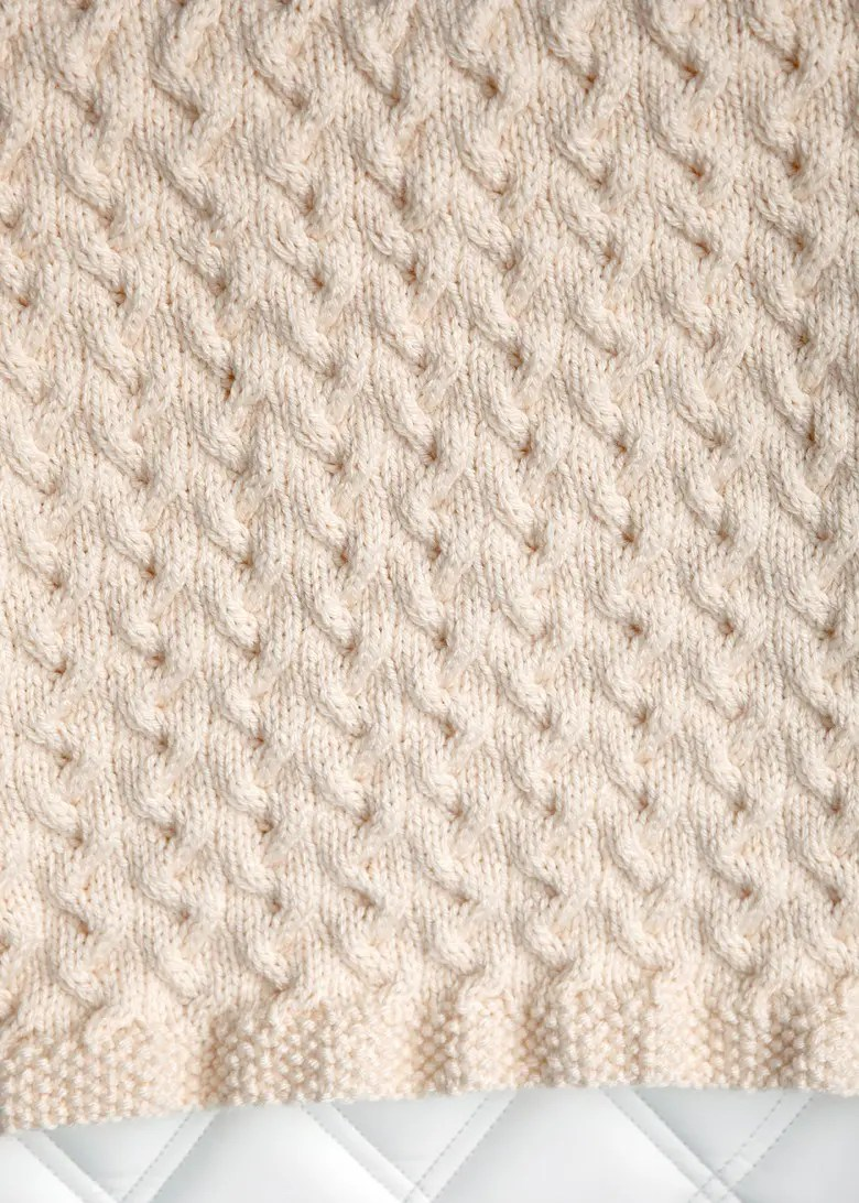 Tiny Ripples - Free Baby Blanket Knitting Pattern - Leelee Knits